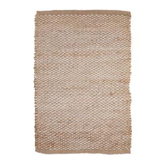 Tapis tressé en jute et polyester beige petit modèle 60x90 cm 662690