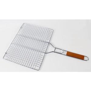 Grille panier double rectangulaire Somagic en acier chromé 40 x 30 cm 662720