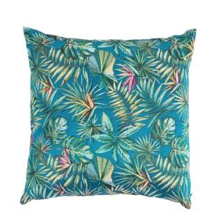 Coussin Bahia bleu canard en polyester 45 x 45 cm 662771