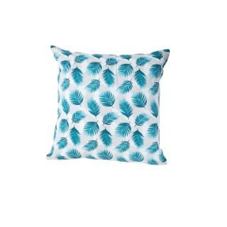 Coussin Nassau en coton bleu canard déhoussable 40 x 40 cm 662809