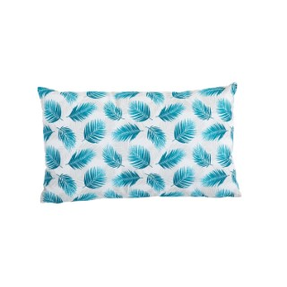 Coussin Nassau en coton bleu canard déhoussable 30 x 50 cm 662810