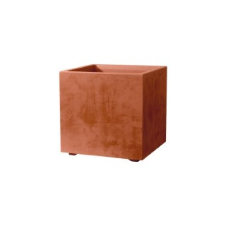 Bac Millenium carré coloris rouille 80 litres 49x49 cm 662829
