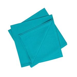 Serviette de table turquoise en coton 45x45 cm 663087