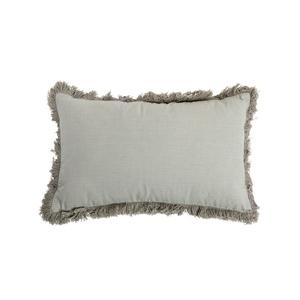 Coussin déhoussable en coton uni kaki 30x50 cm 663091