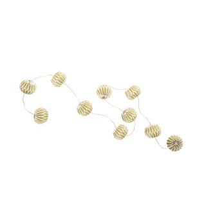 Guirlande de 10 boules de papier origami Vert kaki 2,5 m 663248