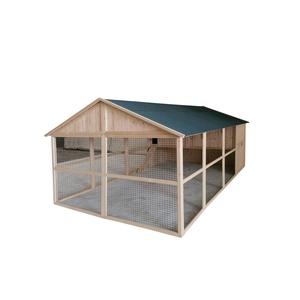 Poulailler Charlie de 8,5 m² en bois avec volière 663329