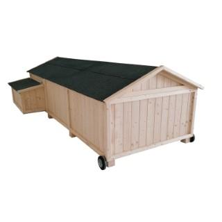 Poulailler Lana mobile de 3 m² en bois 663331