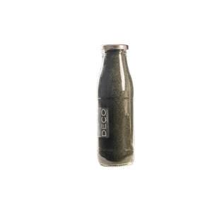 Sable décoratif naturel vert olive de 0,5 mm en bouteille de 500 ml 663563
