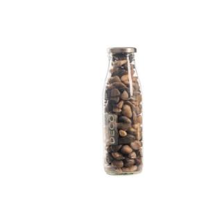 Pierres de fleuve multicolores de 8 à 25 mm en bouteille de 500 ml 663564