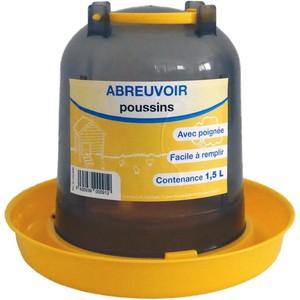 Abreuvoir à baïonnette gris et jaune de 1,5 L 663646