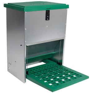 Mangeoire automatique anti nuisibles verte de 12 kg 663664