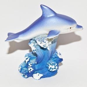 Dauphin en résine bleu 663950