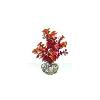 Ledwiga bordeaux-marron en plastique petit modèle 17 cm 663963
