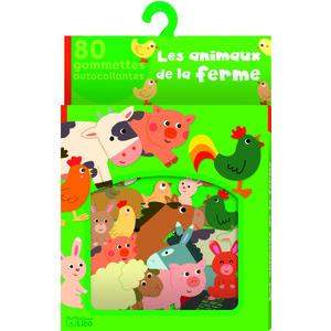 Ma boîte à gommettes Les animaux de la ferme x 80 gommettes autocollantes 664528
