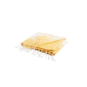 Fouta Bicolore 100 x 200 cm jaune 665505