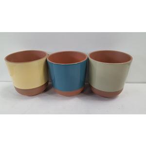 Cache-pot Grès Cactus Ø 8,5 cm Grès (3 assortis) 665649