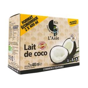 Lot lait de coco 400ml x 2 666339