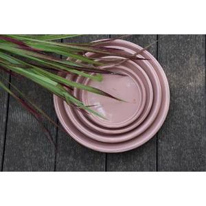 Soucoupe gamme Les poteries d'Albi coloris rose Ø 18 x 3 cm 666723