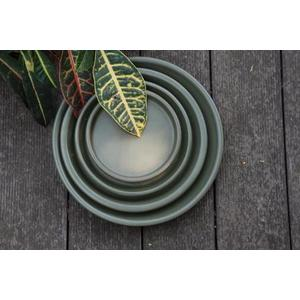 Soucoupe gamme Les poteries d'Albi coloris vert Ø 18 x 3 cm 666725