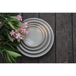 Soucoupe gamme Les poteries d'Albi coloris taupe Ø 28 x 4 cm 666733