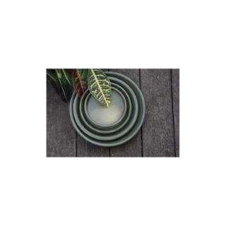 Soucoupe gamme Les poteries d'Albi coloris vert Ø 28 x 4 cm 666734