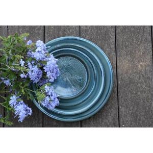 Soucoupe gamme Les poteries d'Albi coloris bleu Ø 33 x 4 cm 666737