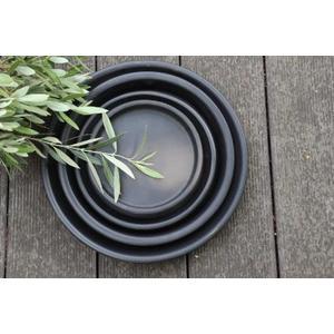 Soucoupe gamme Les poteries d'Albi coloris noir Ø 33 x 4 cm 666741