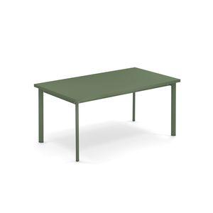 Table Star en acier Vert militaire - 160x90x75 cm 667581