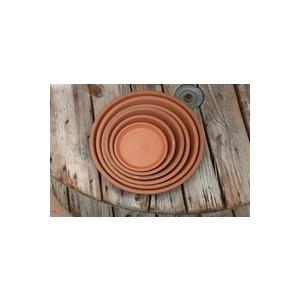Soucoupe gamme Les poteries d'Albi coloris rouge Ø 33 x 4 cm 667585