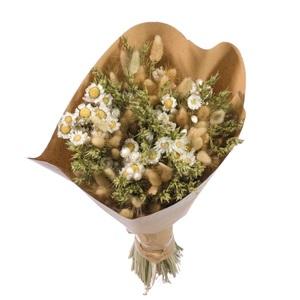 Bouquet sec blanc/vert Ø 25/30 x H 50 cm 667956