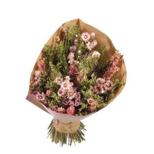 Bouquet sec rose/vert Ø 25/30 x H 50 cm 667957
