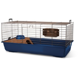 Cage pour rongeur Néro 3 Deluxe édition gris/bleu 100x50x47 cm 669718
