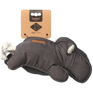 Jouet pour chien Emmy hippopotame velours gris 34x14x12 cm 671867