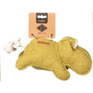Jouet pour chien Emmy hippopotame tissu jaune 34x14x12 cm 671868
