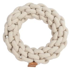 Jouet en corde tressée Ben beige taille S Ø 19 x H 5 cm 671876