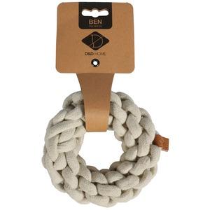 Jouet en corde tressée Ben beige taille XS Ø 10 cm 671880