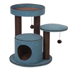 Arbre à chat Bradford bleu 55x55x66,5 cm 671882