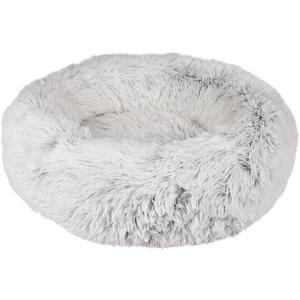 Panier rond Alba en peluche blanche Ø 52 x H 14 cm 672003
