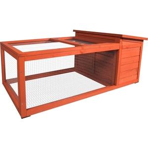 Clapier extérieur atto en bois orange 120x65xH51 cm 672023