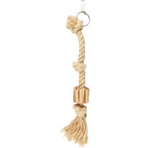 Jouet pour oiseaux en corde lisse avec 3 nœuds 672036