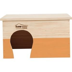 Maison en bois Home rectangle taille XL orange 35x28x20 cm 672588