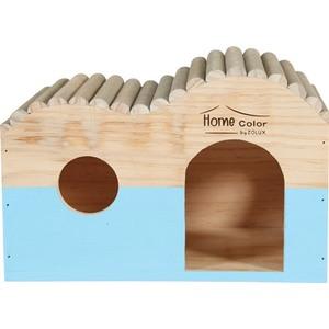 Maison en bois Home rond taille L bleu 29,7x18x20,3 cm 672591