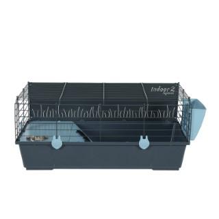 Cage Indoor 2 80 cm en métal bleu clair 81x54x35 cm 672599