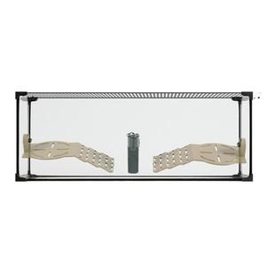 Terrarium pour tortue aquatique Karapas aqua 80 noir 80,5x35,5x30,5 cm 672615
