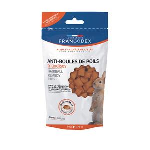 Friandises anti boules de poils pour lapin en sachet de 50 g 672642