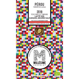 Tablette de chocolat du Pérou au lait et caramel beurre salé 75 g 674708