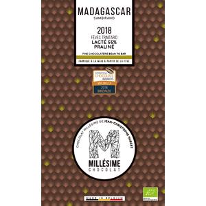 Tablette de chocolat de Madagascar au lait praliné 75 g 674710