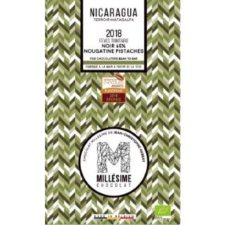 Tablette de chocolat noir (65 %) du Nicaragua à la nougatine et pistache 75 g 674711