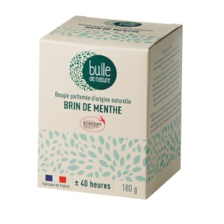 Bougie parfumée Brin de menthe 180g bulle de nature 674851