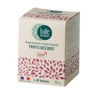 Bougie parfumée Fruits des bois 180g bulle de nature 674852